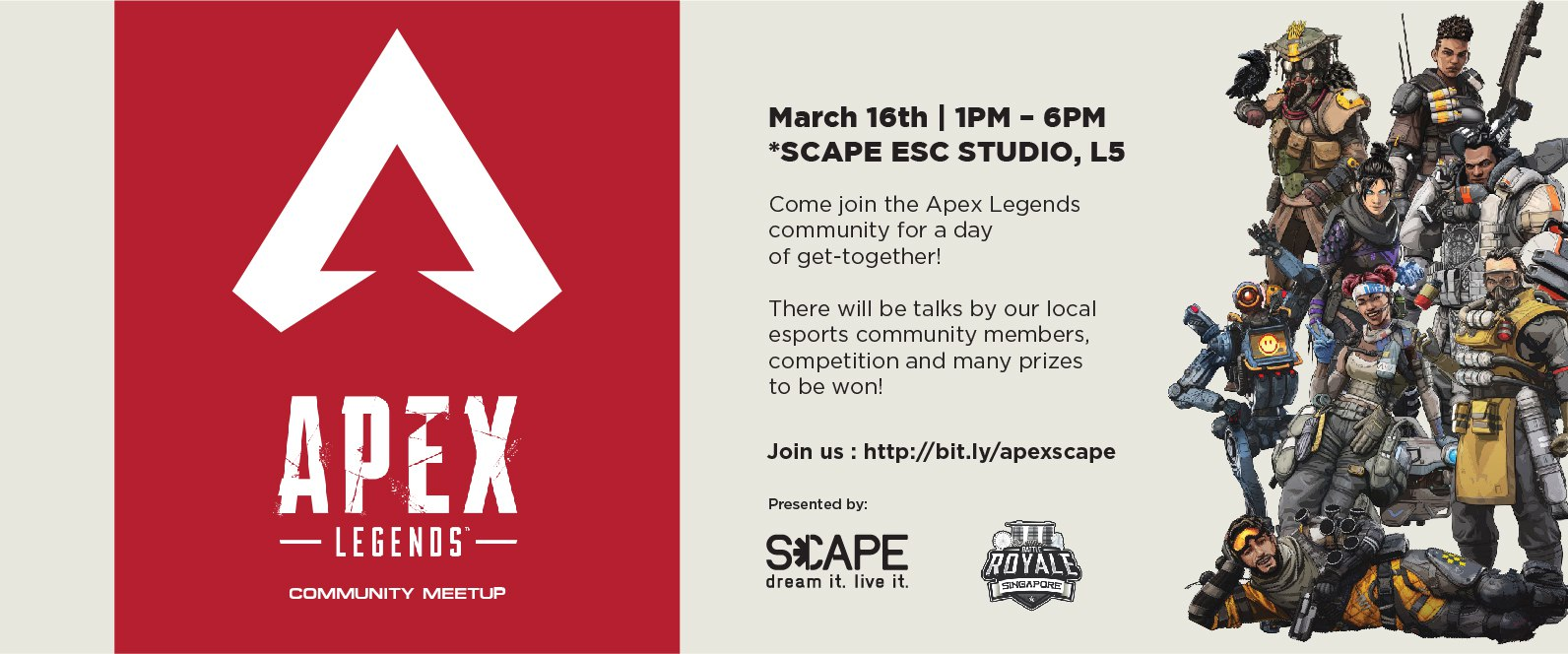 Apex Legends Community Meet Up Scape Singapore